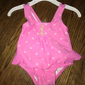 Adorable pink 6-9 one piece bathing suit